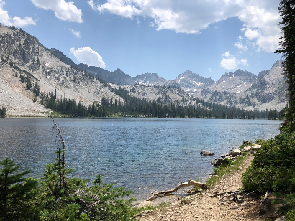 This was the view from our campsite on Alice Lake