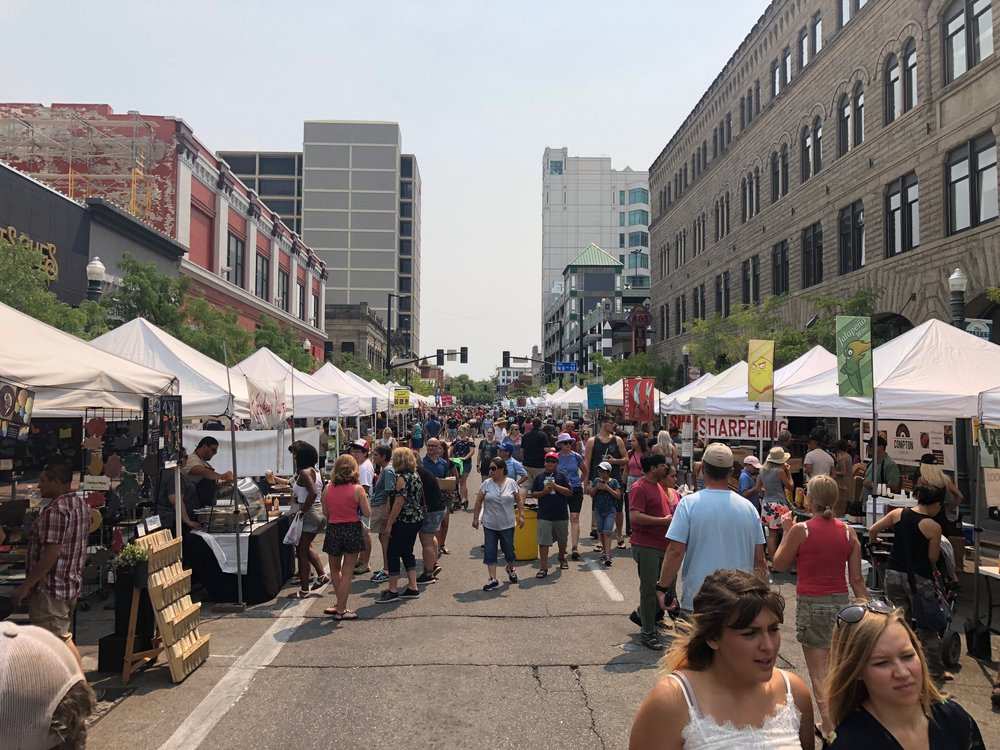 Boise closes almost six city blocks for this market every Saturday!!