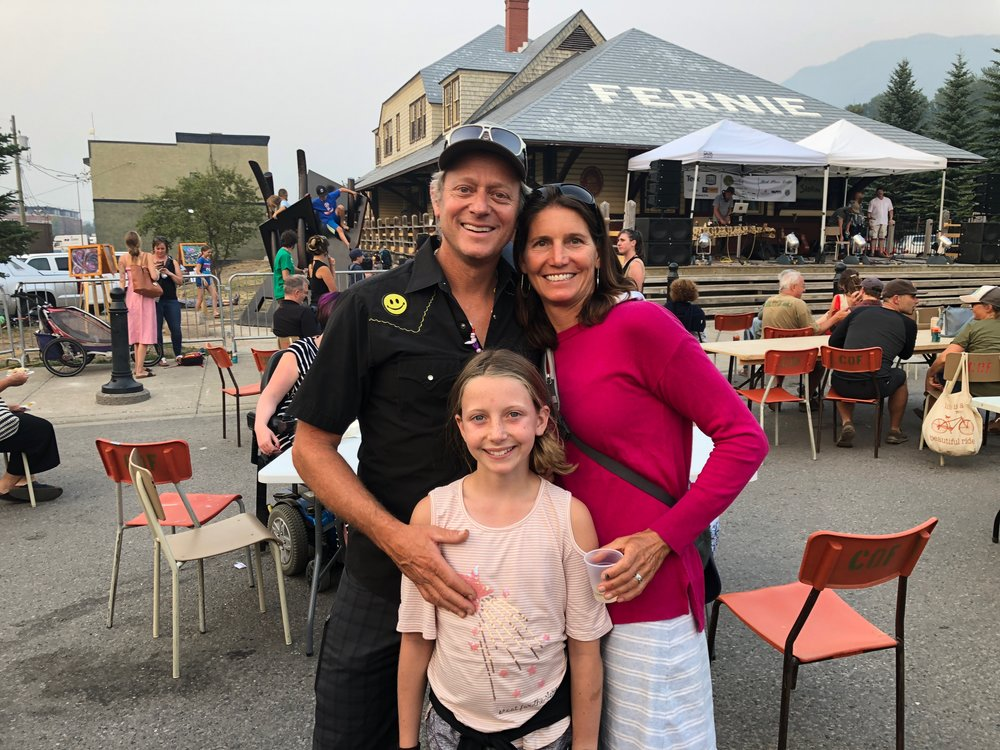 """Enjoying the Wednesday """"Outdoor Concert Series"""" in downtown Fernie, BC."""