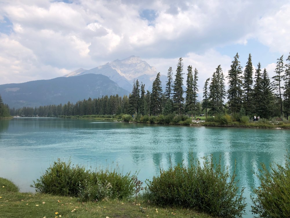 The Bow River in Banff