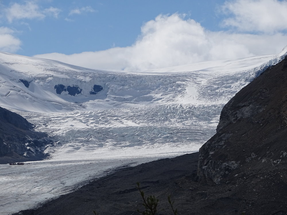 The Athabasca Glacier - which is directly across from the Glacier Discover Center