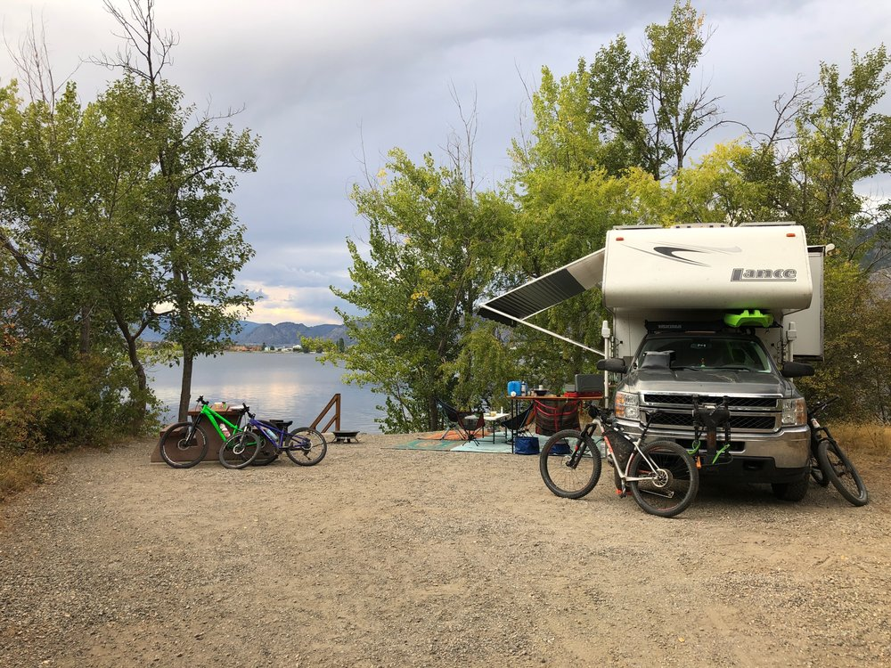 Waterfront camping - not bad!