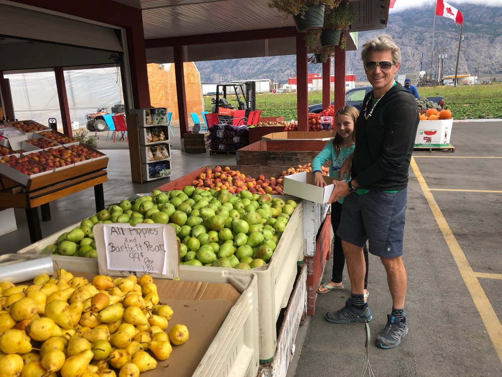 A lot of Canada's produce comes from the Okanagan Valley