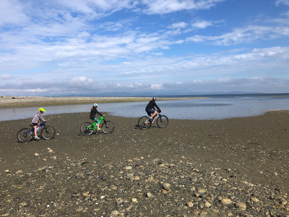 Riding on the beach in Parksville, BC