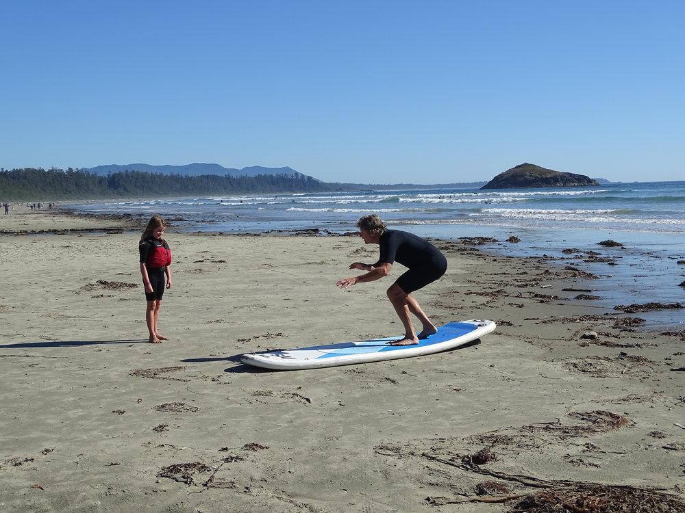 Isla's 5 minute surf lesson