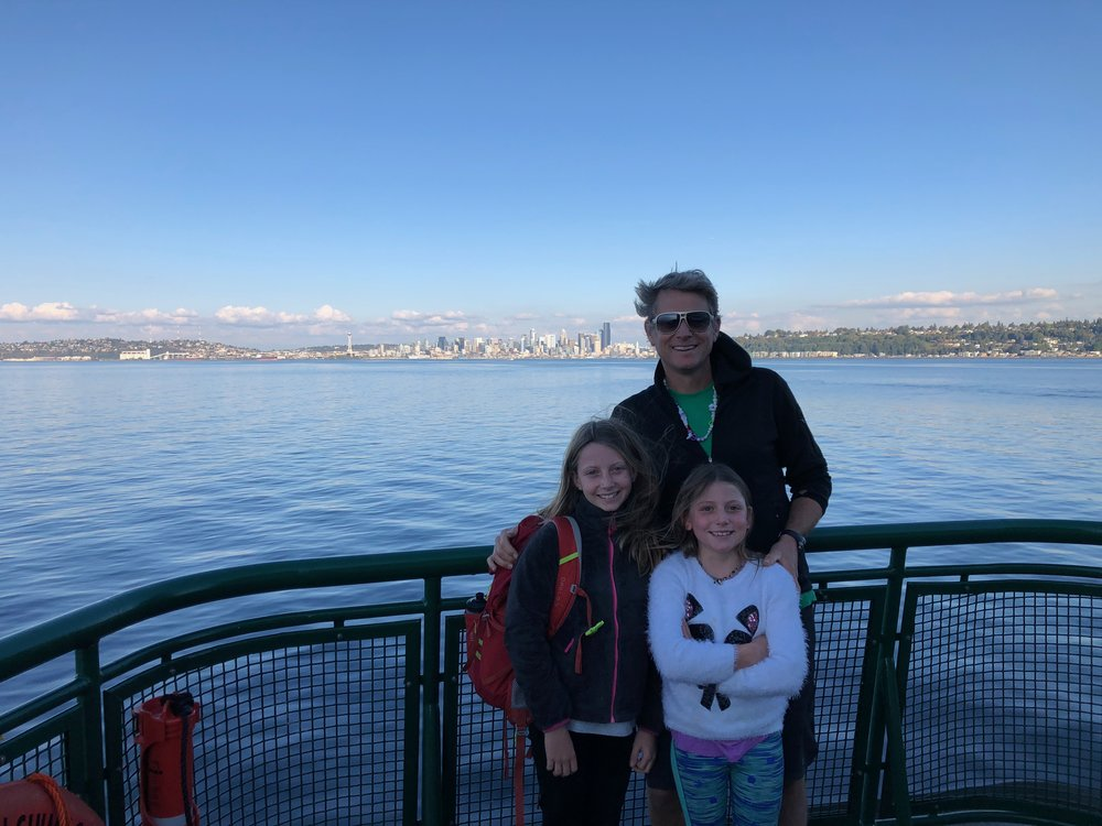 On the ferry to Seattle