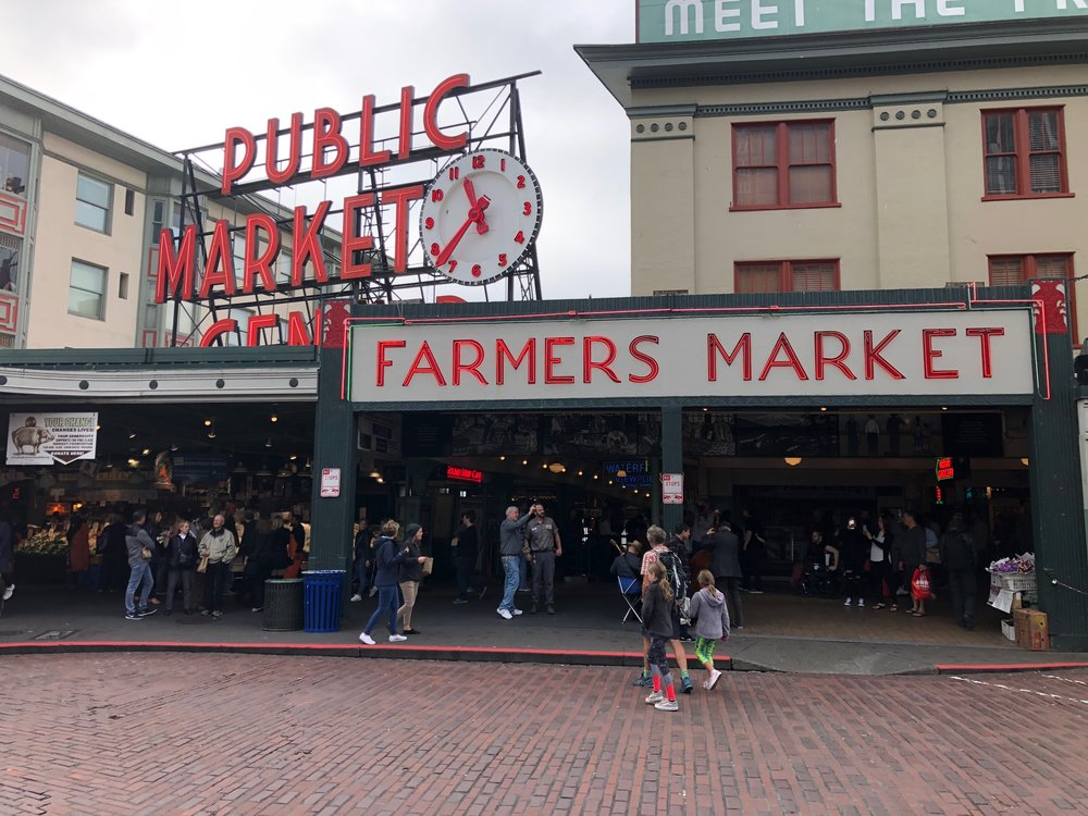 Walking into Pike Place Market
