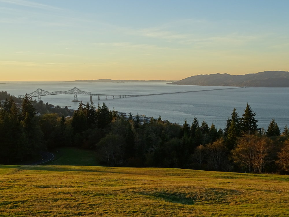 Overlooking the Columbia River from the Astoria Column