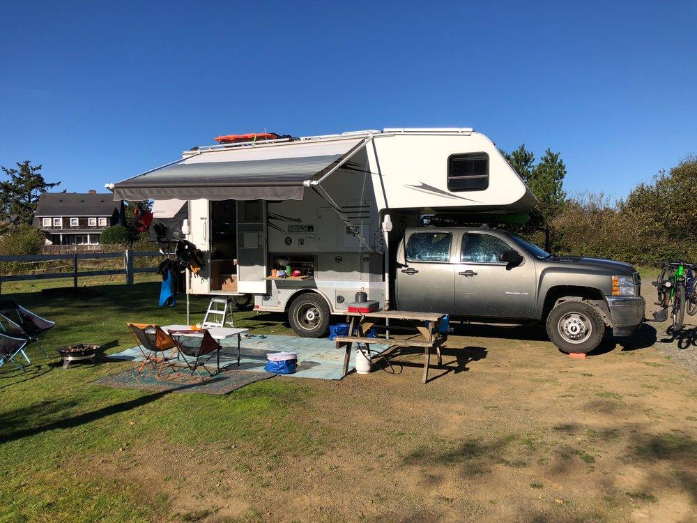 Our campsite in Cannon Beach