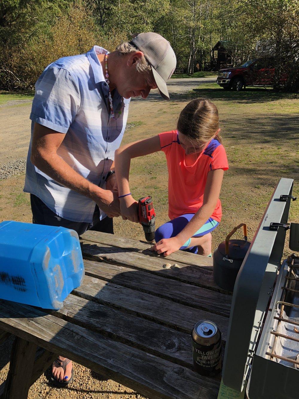 Crafting at camp