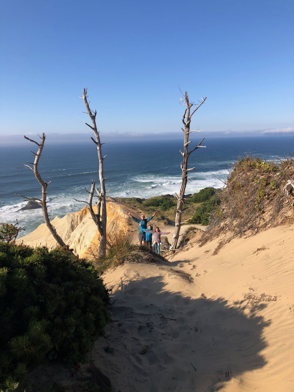 We climbed up and over the dunes to start our hike