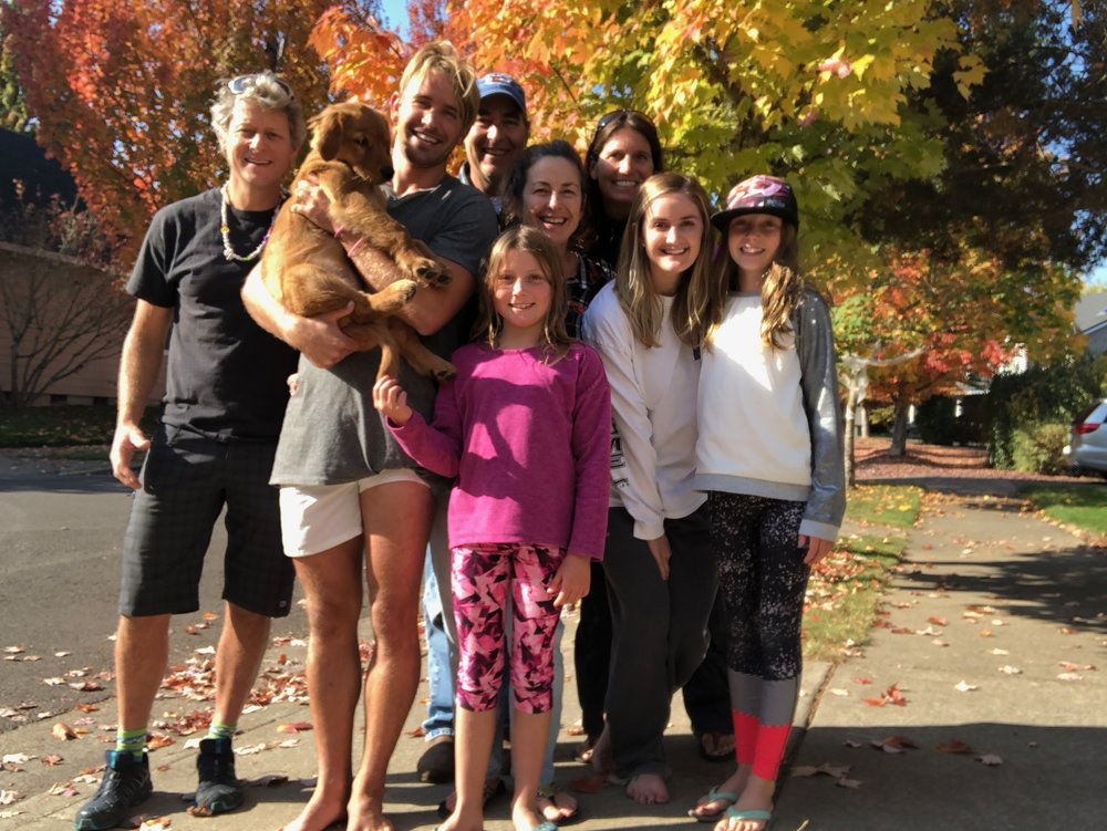 The crew: John, Ruby, Colten, Joe, Me, Eilleen, Katie, Ellie, and Isla