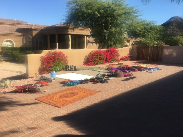Nothing like good old, Arizona desert sun to dry out our stuff!