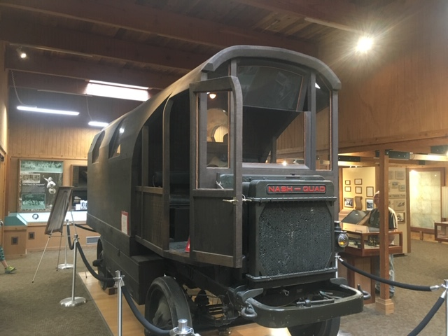 The 1920 RV made out of a redwood log to help bring awareness to the save the redwoods league. This was driven to the east coast and back!
