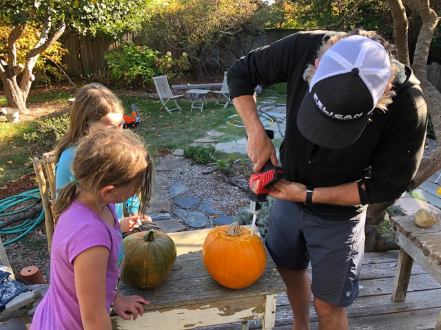 Power tool pumpkin carving