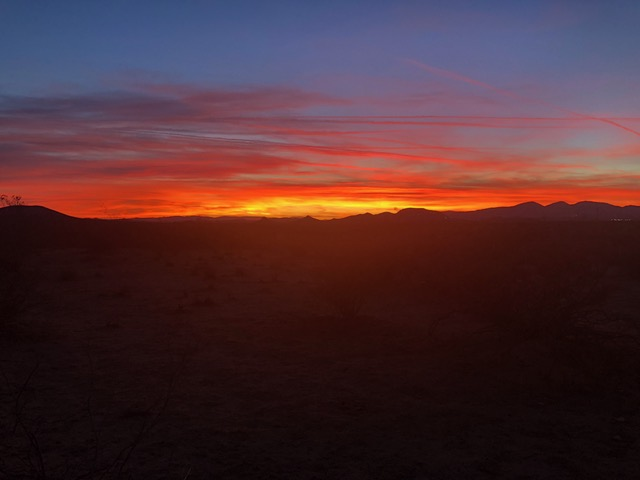 Great desert sunset