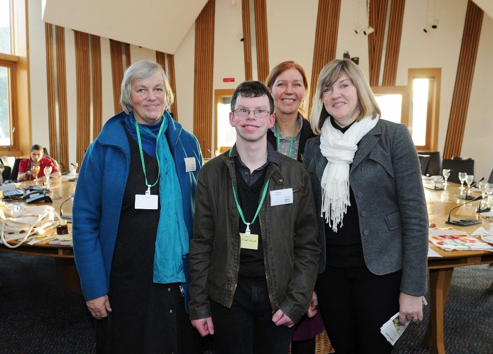 Margaret Colquhoun and David Arthur at the Scottish Parliament Camphill Reception