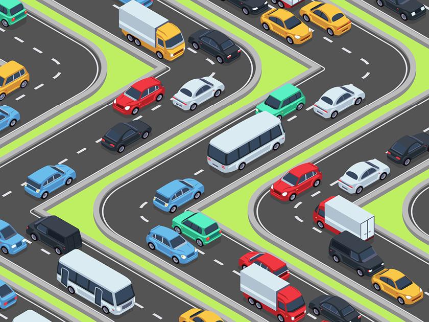 Amélioration de la gestion des flux de trafic - Système central pour la visualisation du timing, et de l'ampleur du trafic en ville et sur les routes environnantes pour diminuer les bouchons et les temps de trajet.