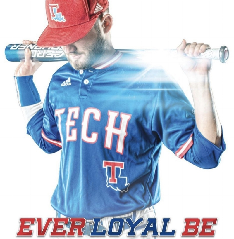 Sean Ullrich on the 2017 Louisiana Tech Baseball Poster