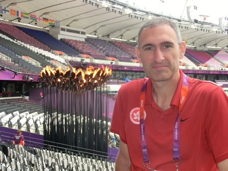 Dr. Paul Wright, head Olympic Track Coach,at the 2012 London Olympics