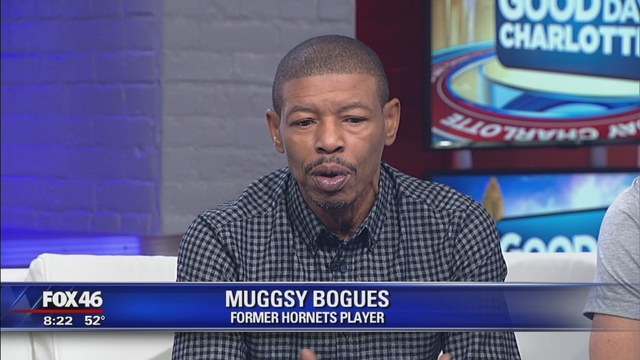 Muggsy bogues talks launch of buzzbuds tshirts and does a meet and greet with fans - BCG's client Muggsy Bogues was on Fox46 to talk about the launch of BuzzBuds T-shirts in collaboration with Glory Days Apparel and NBA Legend and former Charlotte Hornet Larry Johnson. He later had a Meet and Greet with fans-check out the recap!