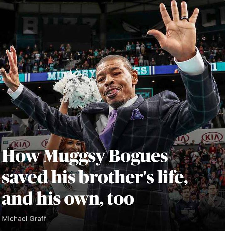 ESPN: HOw Muggsy Bogues saved his brother's life, and his own too. - Muggsy Bogues shares his family story with ESPN's Michael Graff.