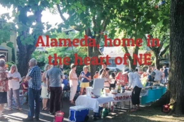 Alameda's tree lined streets are a gathering place for block parties in summer