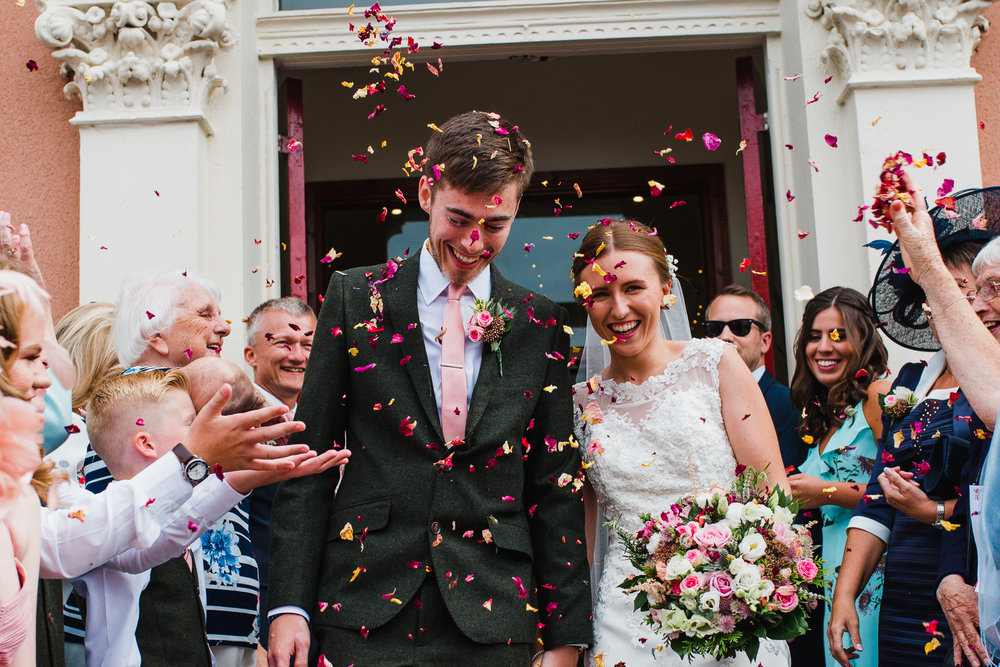 Jess and Ben - Liverpool wedding - confetti