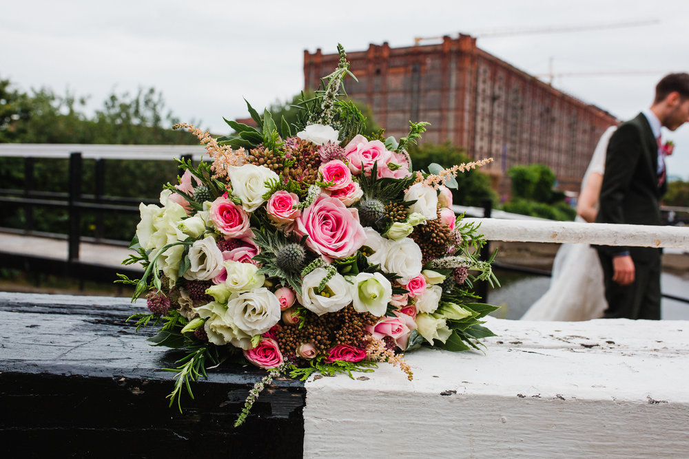Jess and Ben - Liverpool wedding - bridal flower bouquet