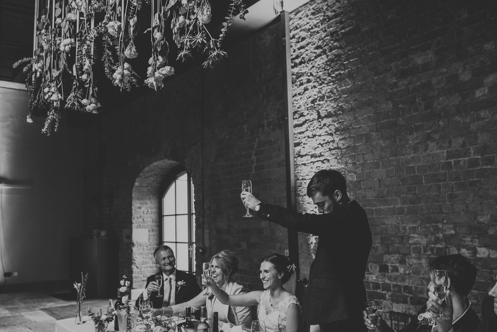 Jess and Ben - Liverpool wedding - groom's speech and toast