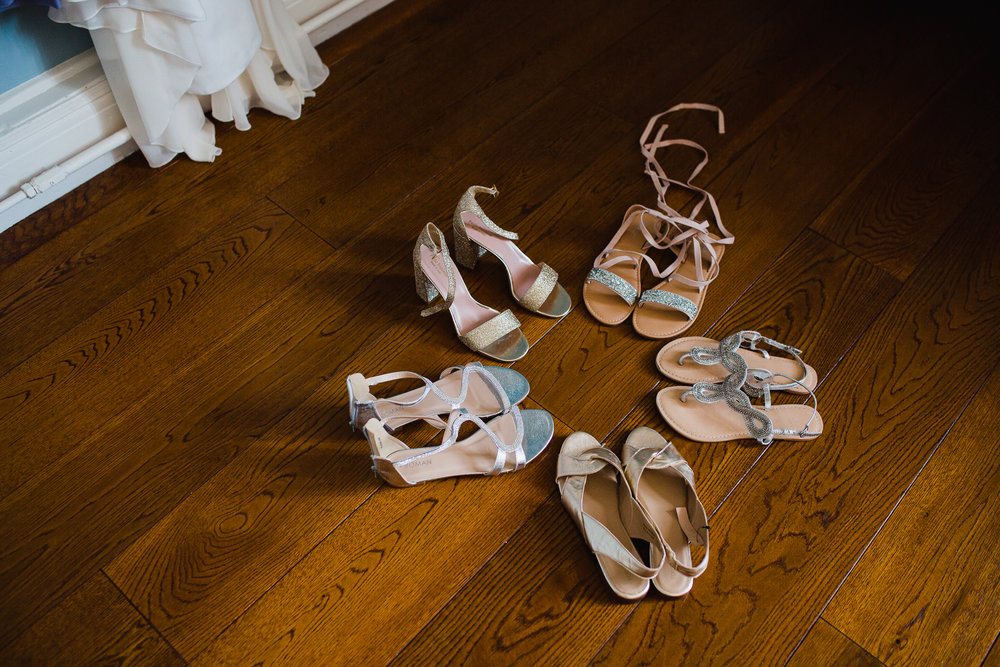 bridesmaid and brides shoes