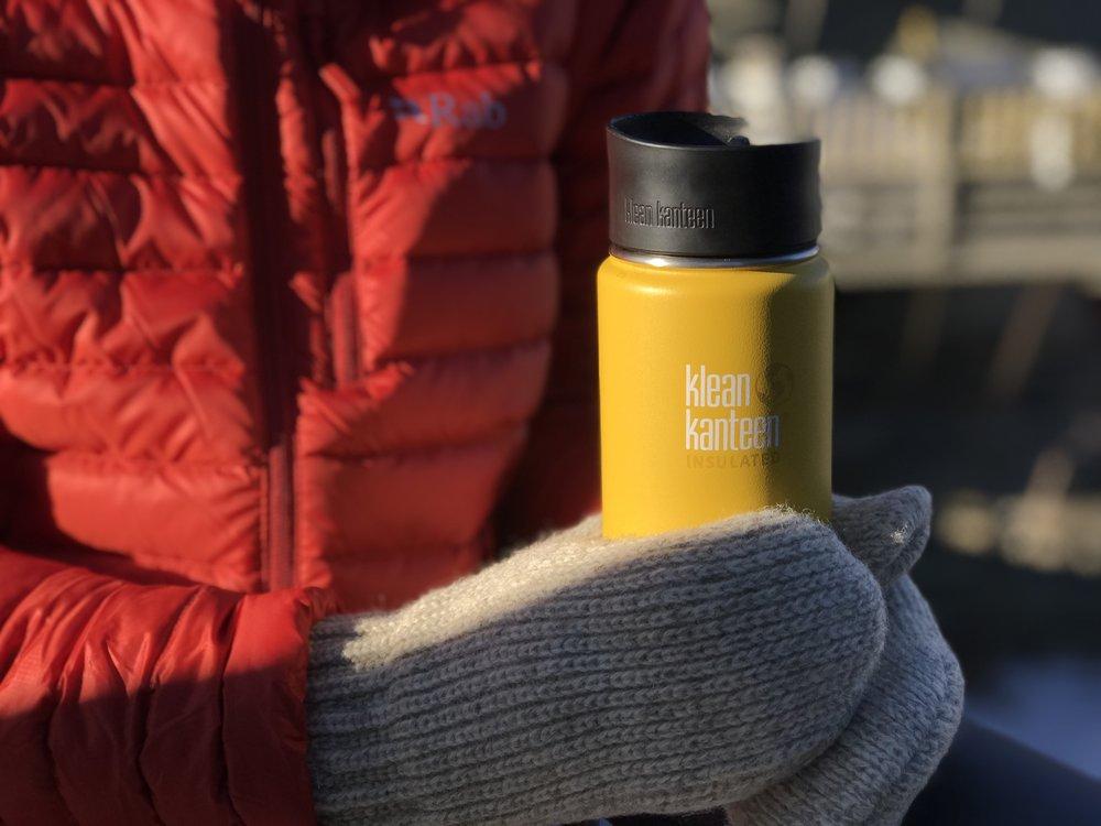 Klean Kanteen 16oz Insulated Mug | Rab down jacket