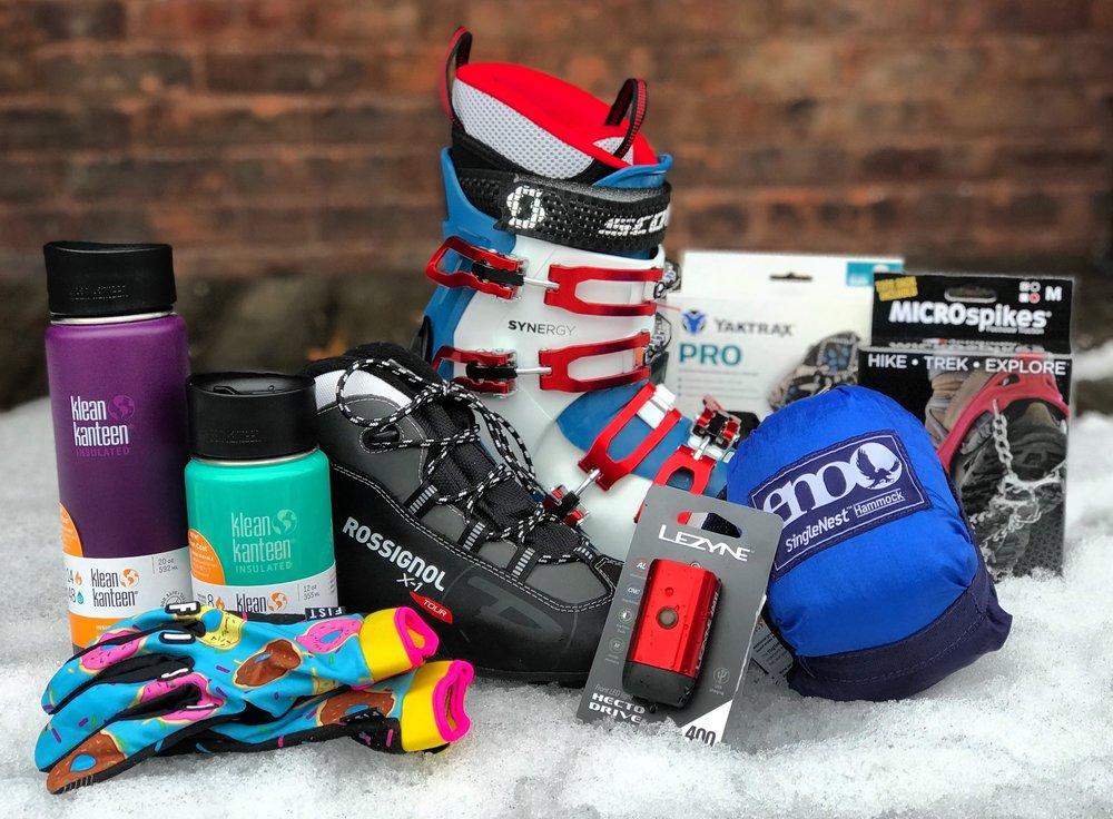 Klean Kanteen | Skis Boots | Yaktrax Traction | Hammocks | Fist Bike Gloves