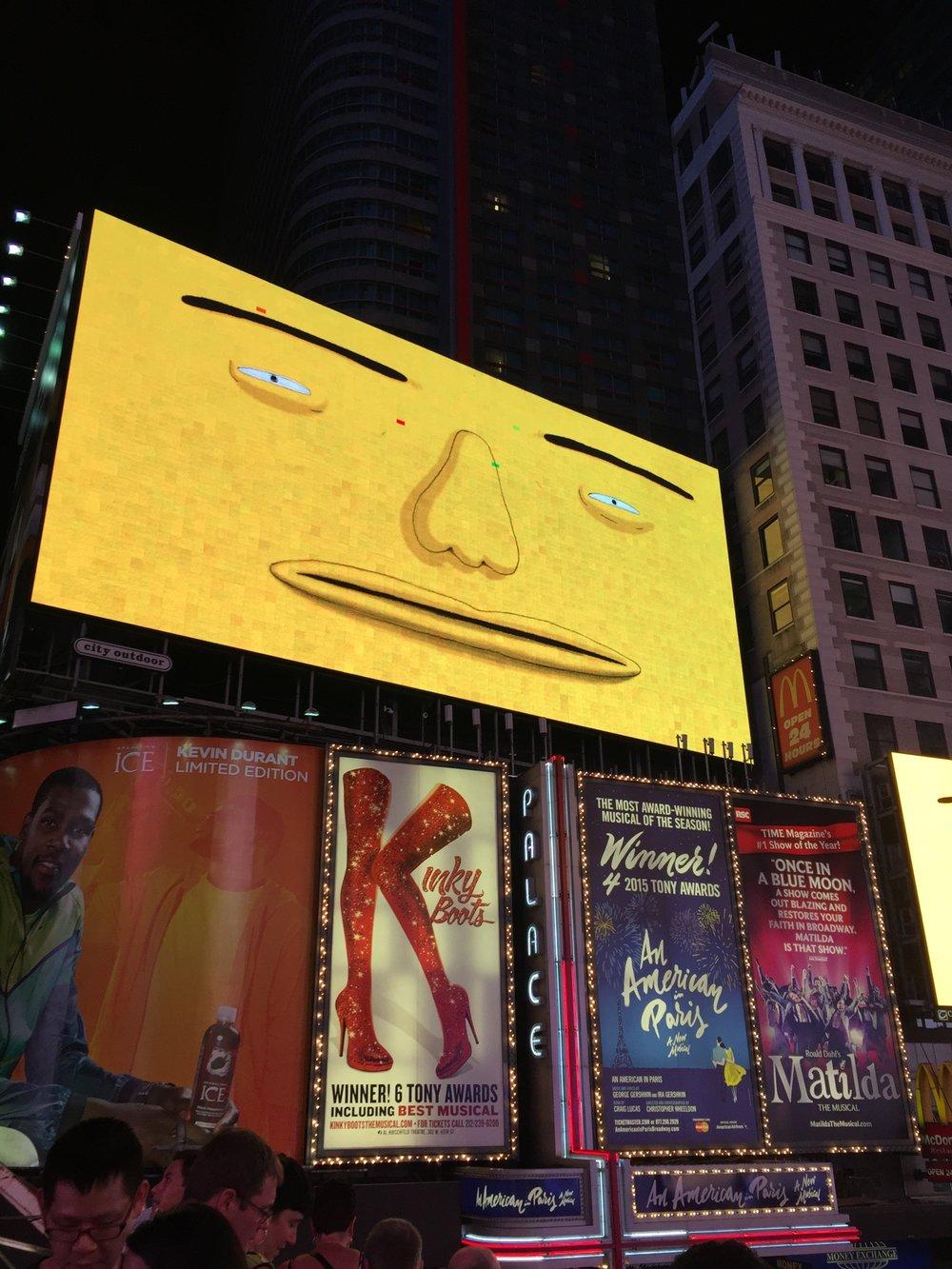 OSGEMEOS at Times Square