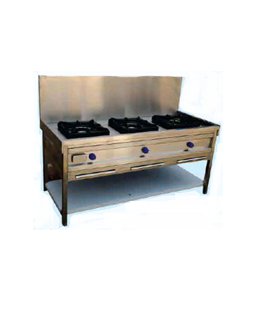 3 Burner Indian Gas Range