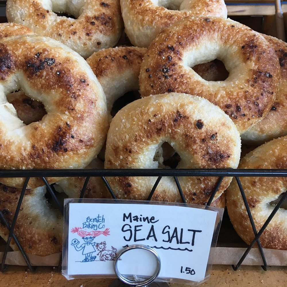 Maine Sea Salt scratch bagels