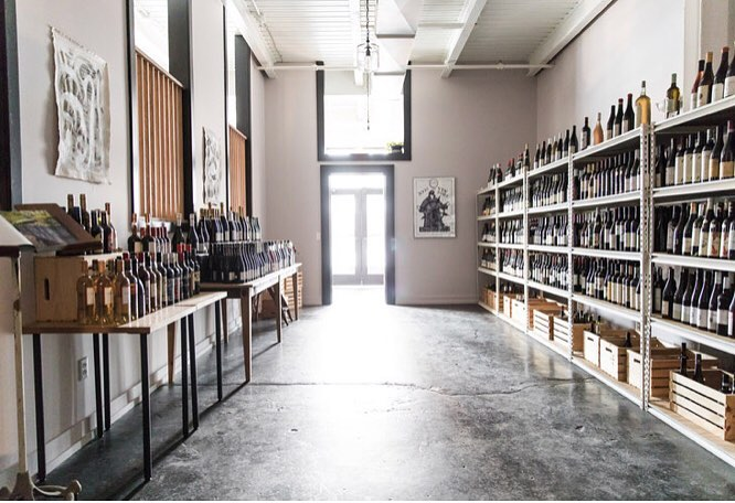 drifters wife hall with wine on shelves