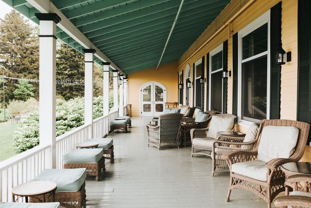 Chebeague Island Inn covered porch