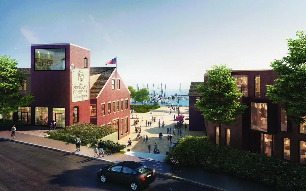 rendering of new Portland Foreside development
