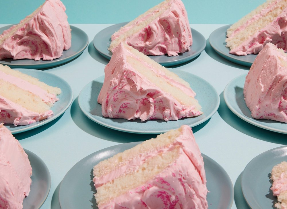 Silver Cake with Pink Frosting from   The Vintage Baker  . Photograph by  Alice Gao .