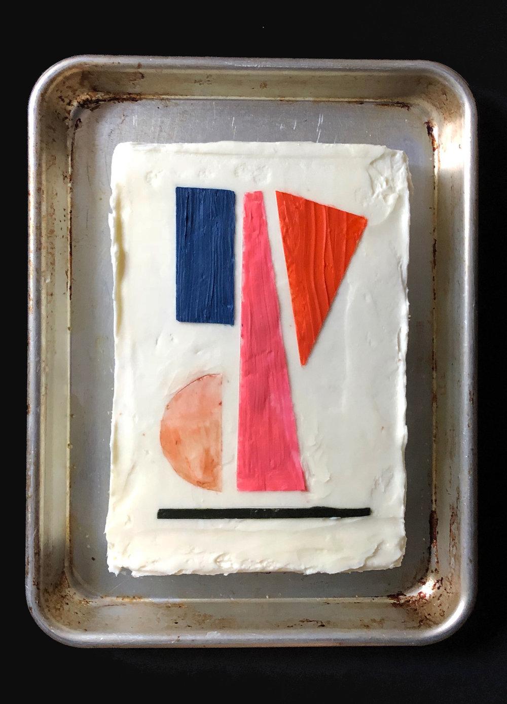"""Balance"" - A vanilla-vanilla cake version of Balance by artist Berit Mogensen Lopez"