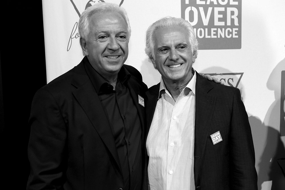 Paul & Maurice Marciano at GUESS? Inc. Headquarters on April 29, 2015 in Los Angeles, California.