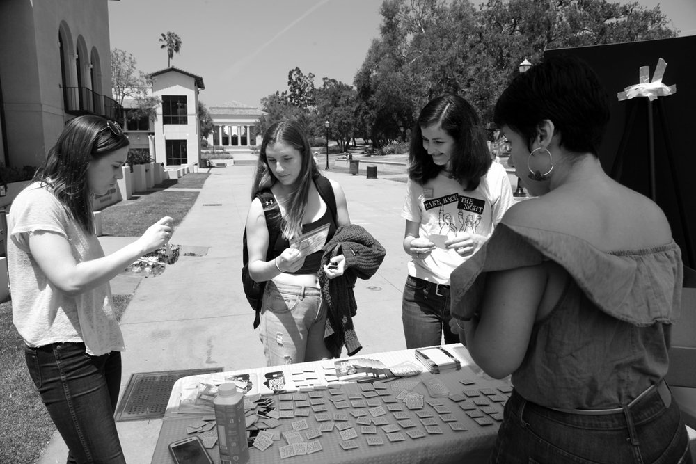 Students learn more about Denim Day at Occidental College