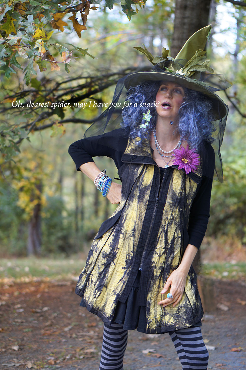 Photo by Alison Walden, Hat from local Halloween pop-up shop, Jacket from Glad Rags Consignment  http://www.mygladrags.com