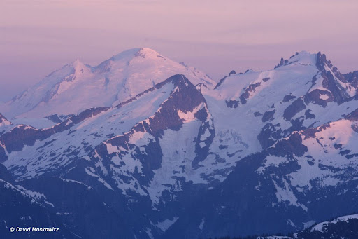 Mount Baker and Mount Fury at Sunrise. North Cascades.