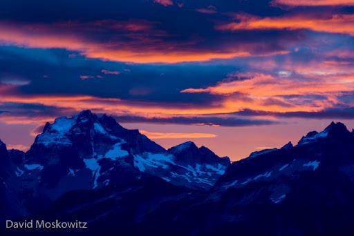 Sunrise over Mount Redoubt.North Cascades, Washington
