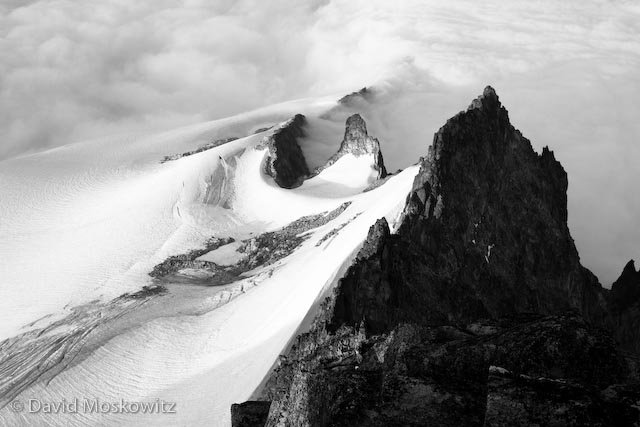 The south ridge of Eldorado Peak and the Eldorado Glacier.