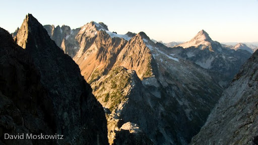 Last views to the north before we dropped down and south out of probably the most wild and remote section of the North Cascades. Mount Fury and Luna Peak in the distance.