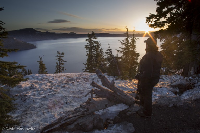 Sunrise over Crater Lake, Crater Lake National Park, Oregon.