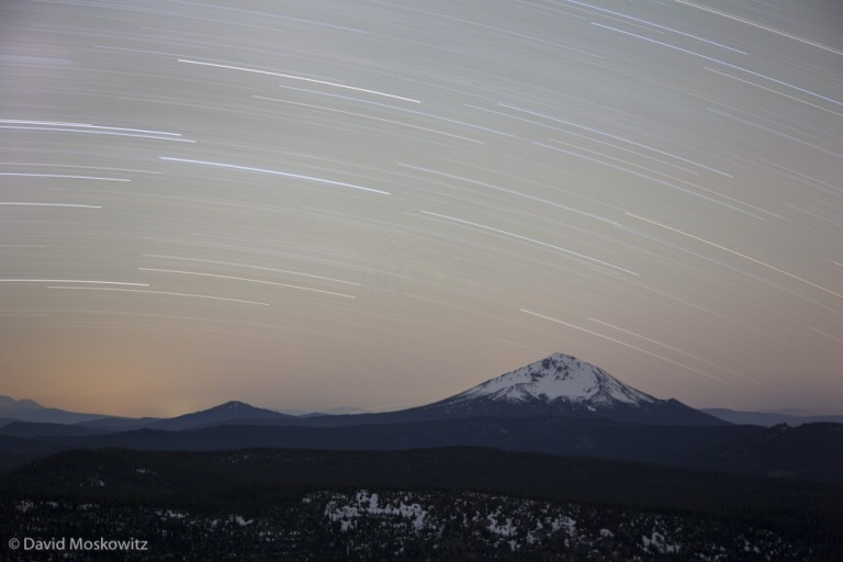Stars over Mount Mcloughlin, in the southern Oregon Cascades.